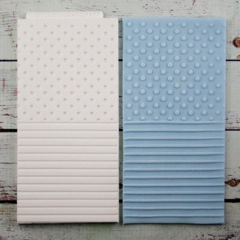 Spots & stripes two textures silicone cupcake embossing mat - Ellam Sugarcraft Moulds For Fondant Or Chocolate