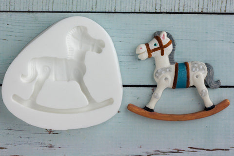 Rocking Horse  Mould - Ellam Sugarcraft cupcake cake craft Moulds For Fondant Or Chocolate
