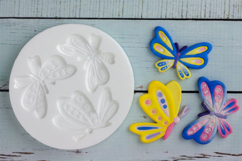 Large Butterfly Silicone Mould - Ellam Sugarcraft Moulds For Fondant Or Chocolate