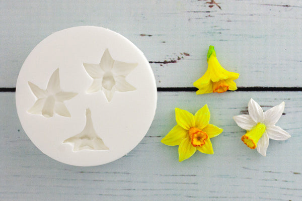 Daffodil Mould - Easter mould- Ellam Sugarcraft cupcake cake craft  Moulds For Fondant Or Chocolate