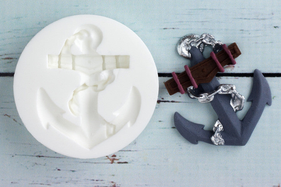 Nautical  Anchor Silicone cupcake craft cake Mould - Ellam Sugarcraft Moulds For Fondant Or Chocolate