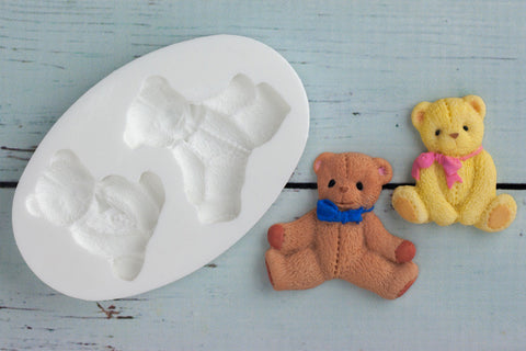 Teddy Bears, Baby Teddies Silicone Mould - Ellam Sugarcraft Moulds For Fondant Or Chocolate
