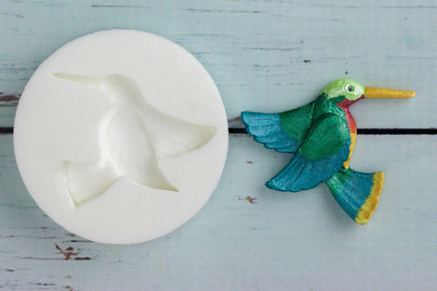 Humming Bird Silicone Mould -food safe mould- Ellam Sugarcraft Moulds For Fondant Or Chocolate