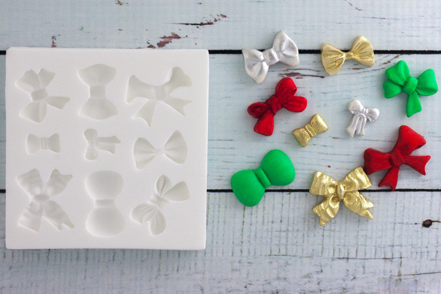 Bow Mould - ribbon mold- Ellam Sugarcraft cupcake cake craft  Moulds For Fondant Or Chocolate