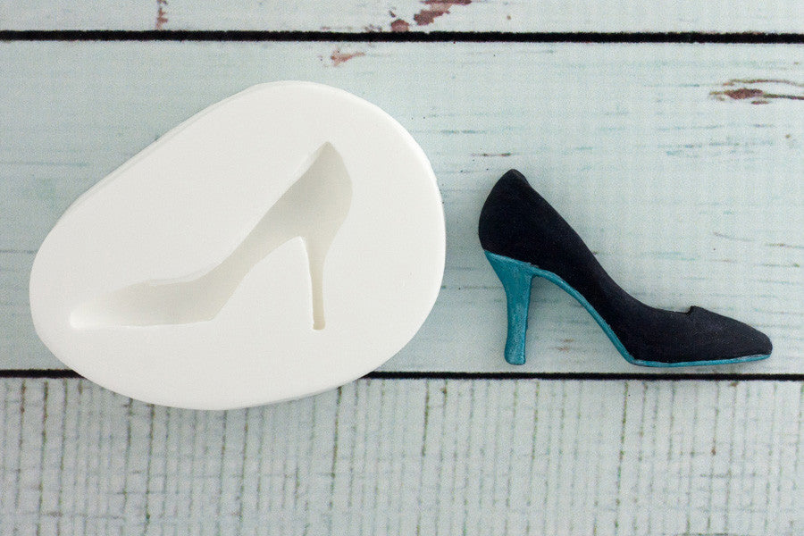 Ladies Stiletto Heel Shoe Silicone Mould - Ellam Sugarcraft cake cupcake Moulds For Fondant Or Chocolate