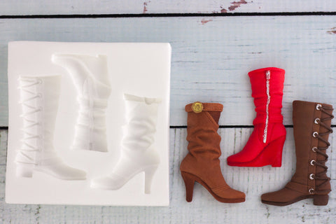 Ladies Fashion Boots Silicone Mould - ellamsugarcraft