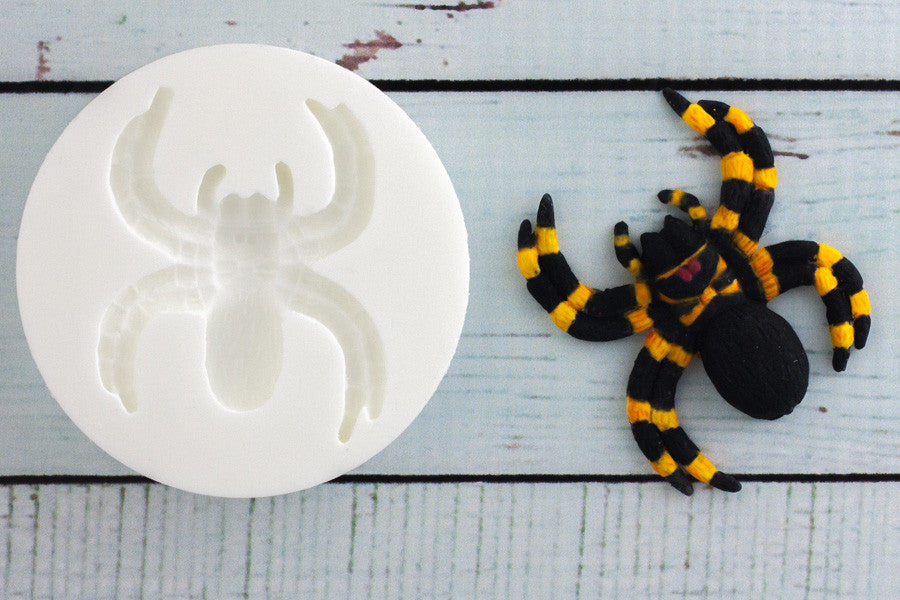 Halloween Spider Silicone craft cake cupcake Mould - Ellam Sugarcraft Moulds For Fondant Or Chocolate