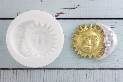 Sun & Moon Silicone Mould - Ellam Sugarcraft Moulds For Fondant Or Chocolate