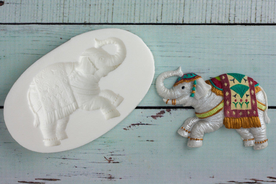 Asian  Wedding Elephant- elephant Mould - Ellam Sugarcraft craft cupcake Moulds For Fondant Or Chocolate