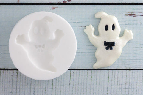 Halloween Ghost Silicone Mould - ellamsugarcraft - 1