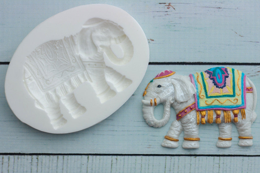 Wedding Elephant  Silicone Mould - Asian elephant mold- Ellam Sugarcraft Moulds For Fondant Or Chocolate