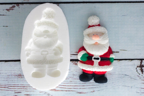 Father Christmas Silicone Mould -Santa craft mould- Ellam Sugarcraft cupcake cake craft Moulds For Fondant Or Chocolate