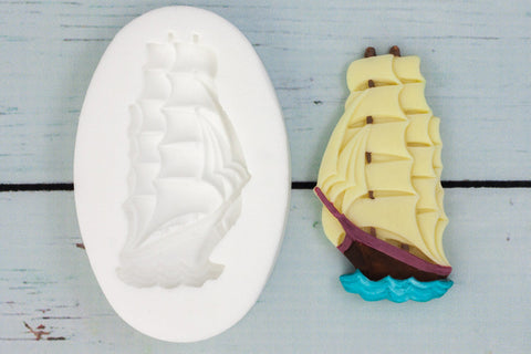 Pirate Galleon Sailing Ship Silicone Mould - Ellam Sugarcraft Moulds For Fondant Or Chocolate