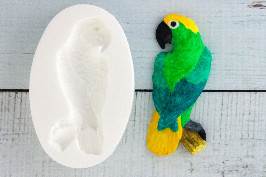 Parrot Silicone Mould - Ellam Sugarcraft cupcake cake craft Moulds For Fondant Or Chocolate