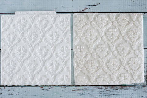 Damask Texture Mat Silicone Mould - ellamsugarcraft - 1