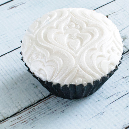 beautiful Art Nouveau embossed Cupcake  - Ellam Sugarcraft Moulds For Fondant Or Chocolate