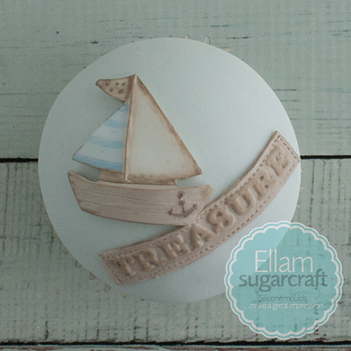 Nautical baby cupcakes- Yacht cupcake -sailor cake- Ellam Sugarcraft Moulds For Fondant Or Chocolate
