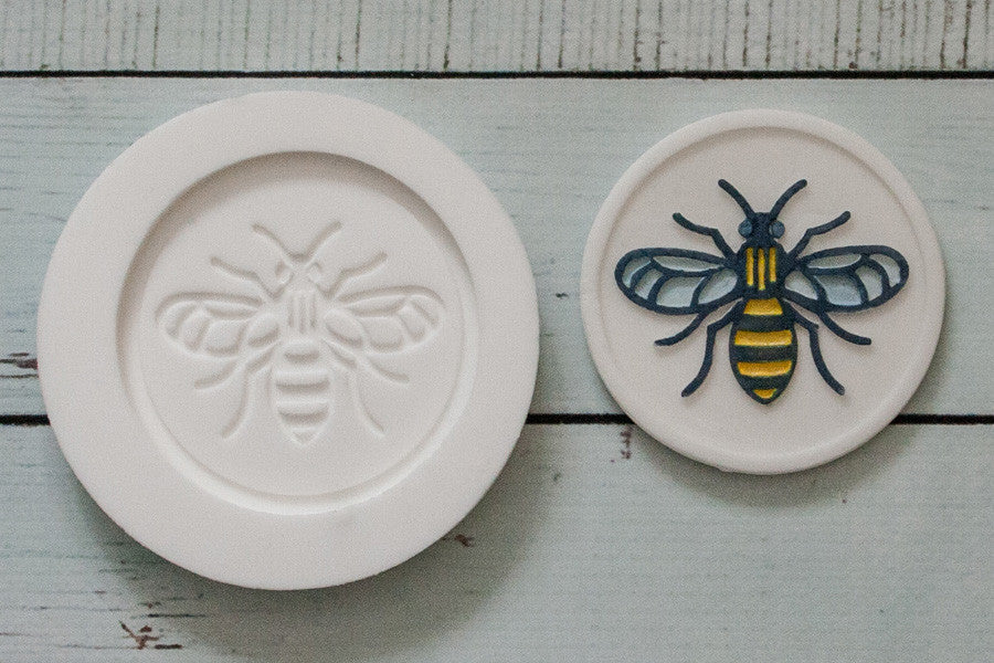 Manchester Bee mould - worker bee mould- bee cupcake topper Silicone Mould 58mm - Ellam Sugarcraft cupcake cake craft Moulds For Fondant Or Chocolate
