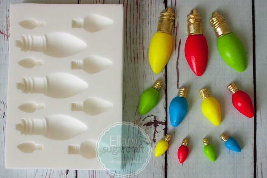 Christmas Tree Lights, Fairy Lights,  Silicone cake cupcake craft Mould - Ellam Sugarcraft Moulds For Fondant Or Chocolate