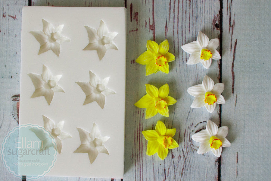 Daffodil Mould - Spring flower mold- Easter mould-Ellam Sugarcraft Moulds For Fondant Or Chocolate