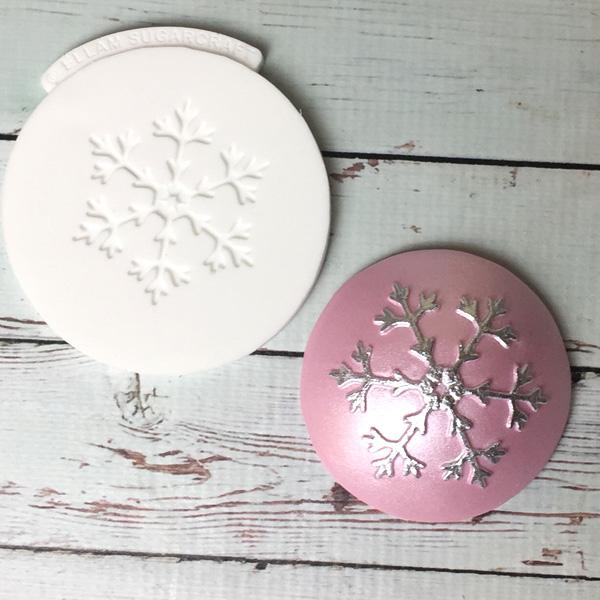 6 point Snowflake cupcake embossing Mat Silicone Mould