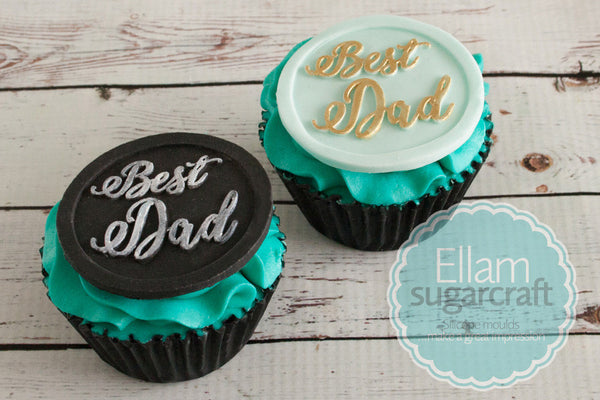 Best Dad Fathers Day cupcake top 58mm cake cupcake craft Silicone Mould - Ellam Sugarcraft Moulds For Fondant Or Chocolate