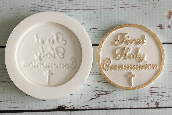 First Holy Communion Cupcake Topper Silicone cake craft  Mould - Ellam Sugarcraft Moulds For Fondant Or Chocolate