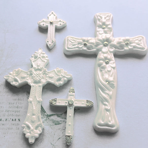 First holy Communion, cross, crosses christening Silicone cupcake cake craft Mould - Ellam Sugarcraft Moulds For Fondant Or Chocolate