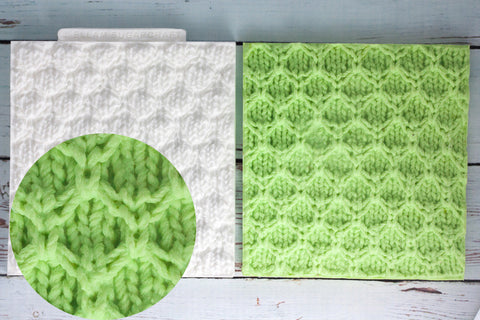 Diamond Knit- Knitted Texture embossing Mat Silicone Mould - Ellam Sugarcraft Moulds For Fondant Or Chocolate