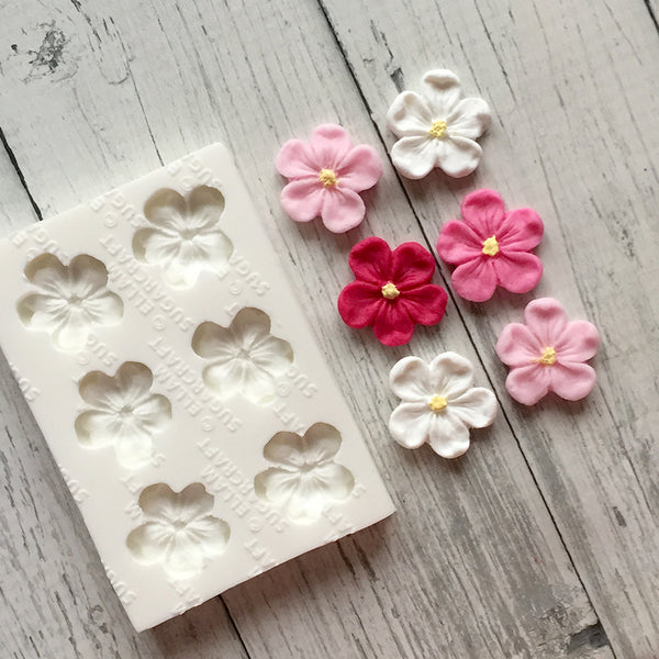 Blossom flower single design 6 cavity repeat spring flower Silicone Mould