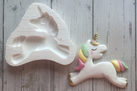 Unicorn mold-  Baby Unicorn Silicone mould- craft cake cupcake - Ellam Sugarcraft Moulds For Fondant Or Chocolate