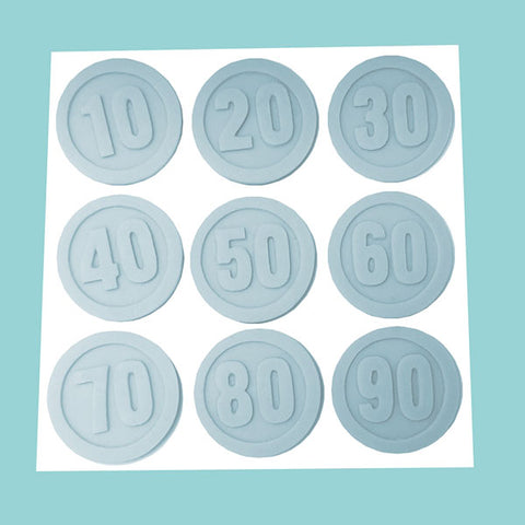 Age Markers, Numbers, Road Signs Silicone Mould by Ellam Sugarcraft