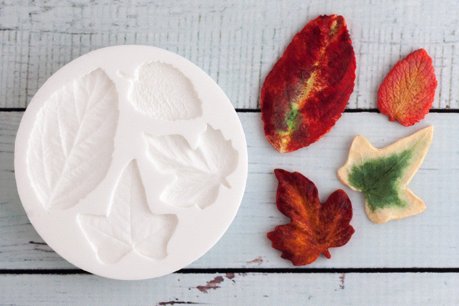 Leaves Silicone cupcake Mould - ivy mould-leaf craft mould-Ellam Sugarcraft Moulds For Fondant Or Chocolate