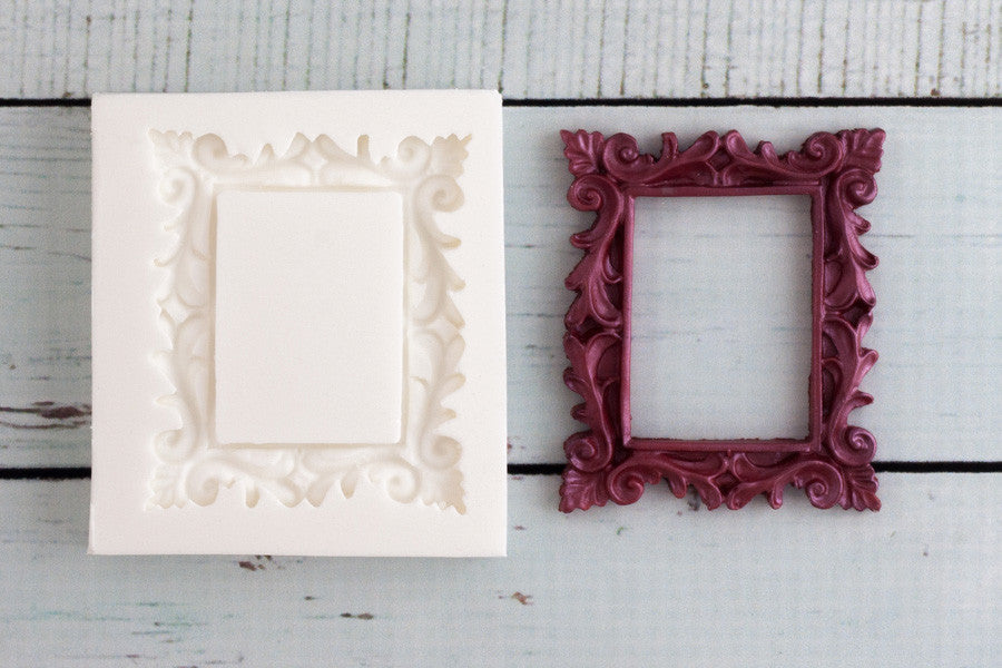 ornate Picture Frame Silicone cupcake Mould - Ellam Sugarcraft cake craft Moulds For Fondant Or Chocolate