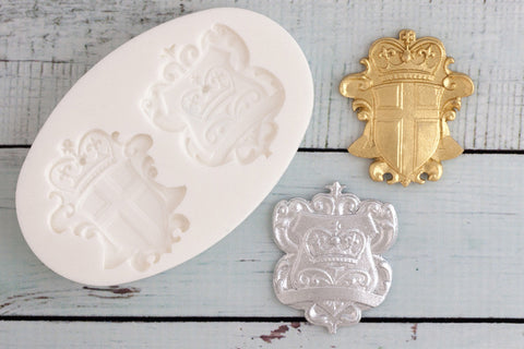 Coat of Arms, Heraldic Shields Silicone cupcake cake craft Mould - Ellam Sugarcraft Moulds For Fondant Or Chocolate