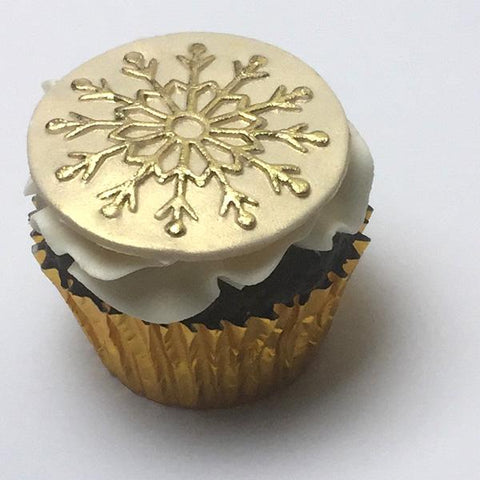12 point Snowflake cupcake embossing Mat Silicone Mould