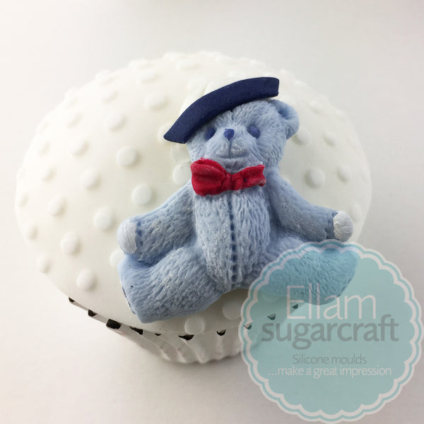 teddy cupcake - sailor teddy bear- nautical baby cupcake - Ellam Sugarcraft Moulds For Fondant Or Chocolate