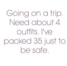 Packing clothes for travel