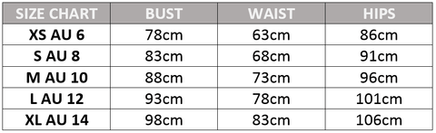 Ivory & Chain Sizing Guide Australia