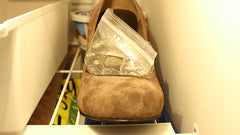 Stretch shoes in the freezer