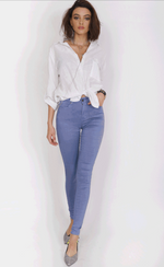 Refuge Light Blue Denim Jeans - High Waisted Gelato Legs