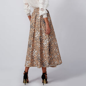 Load image into Gallery viewer, ALICE Leopard Print Skirt