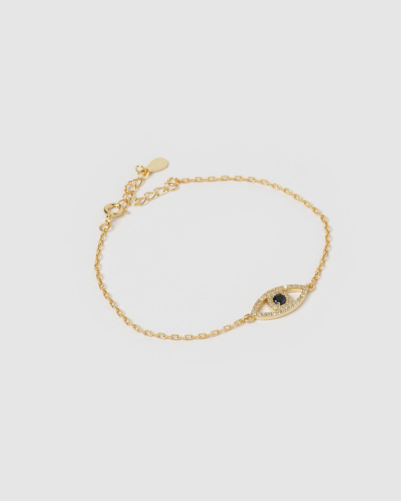 Load image into Gallery viewer, Izoa Arti Eye Bracelet Gold