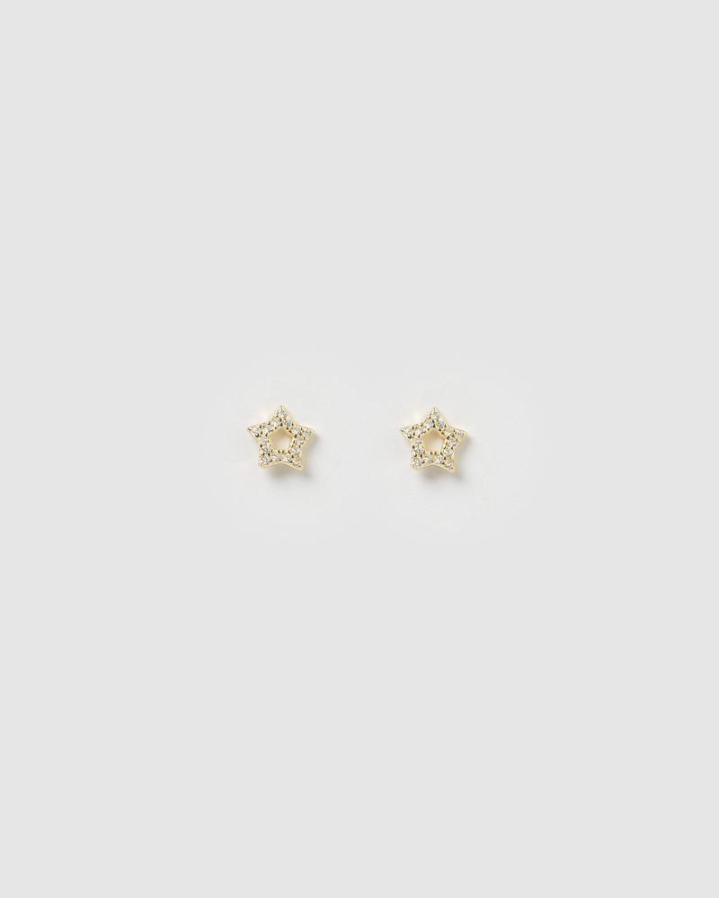Izoa Roro Star Earrings Gold