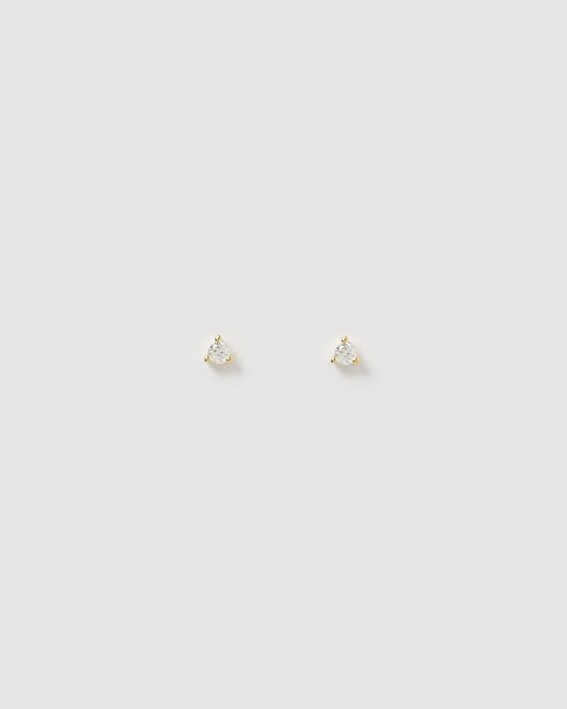 Izoa Dee Clear Cubic Zirconia Small Stud Earrings