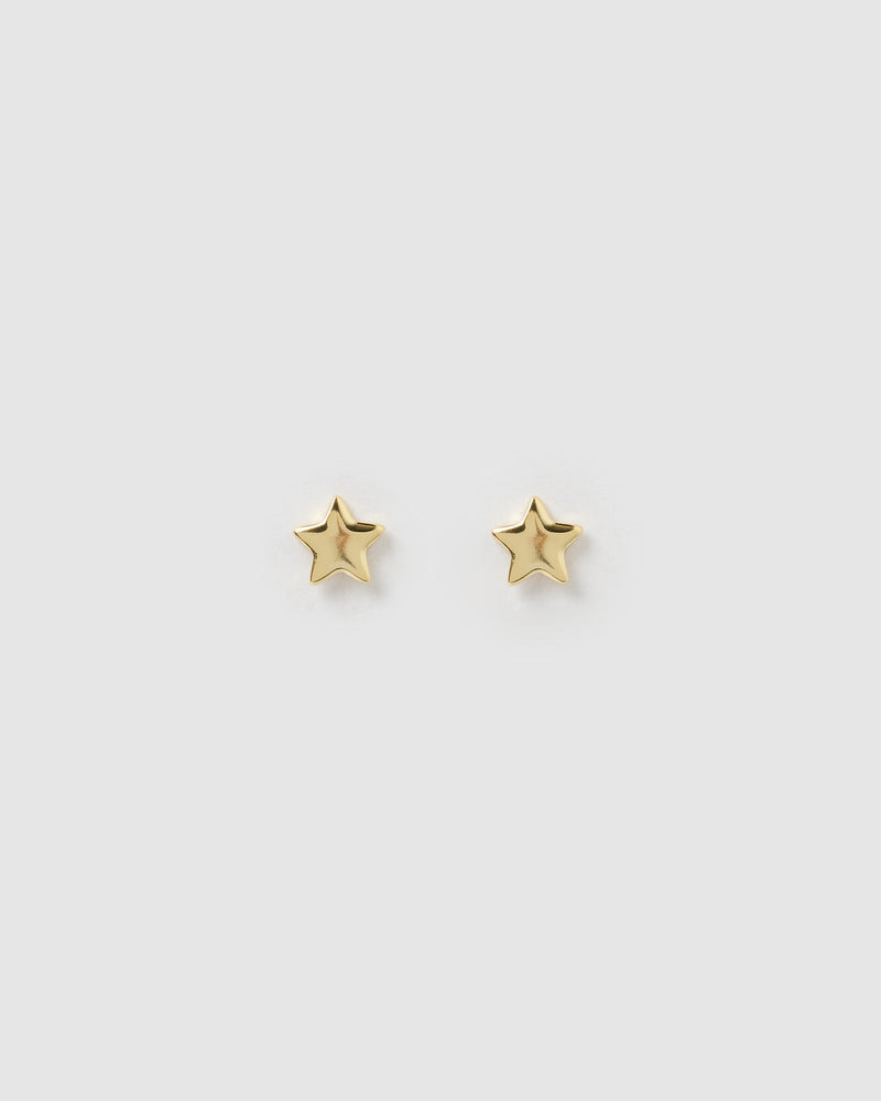 Izoa Brissy Star Earrings Gold
