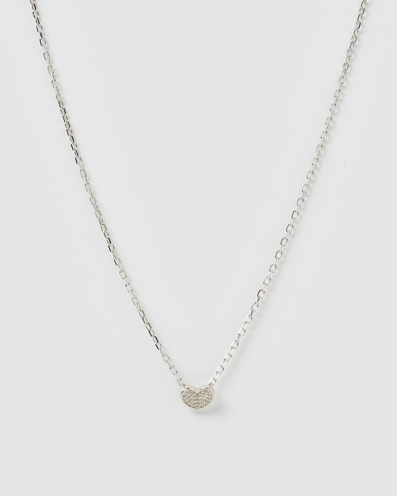 Load image into Gallery viewer, Izoa Tee Necklace Silver