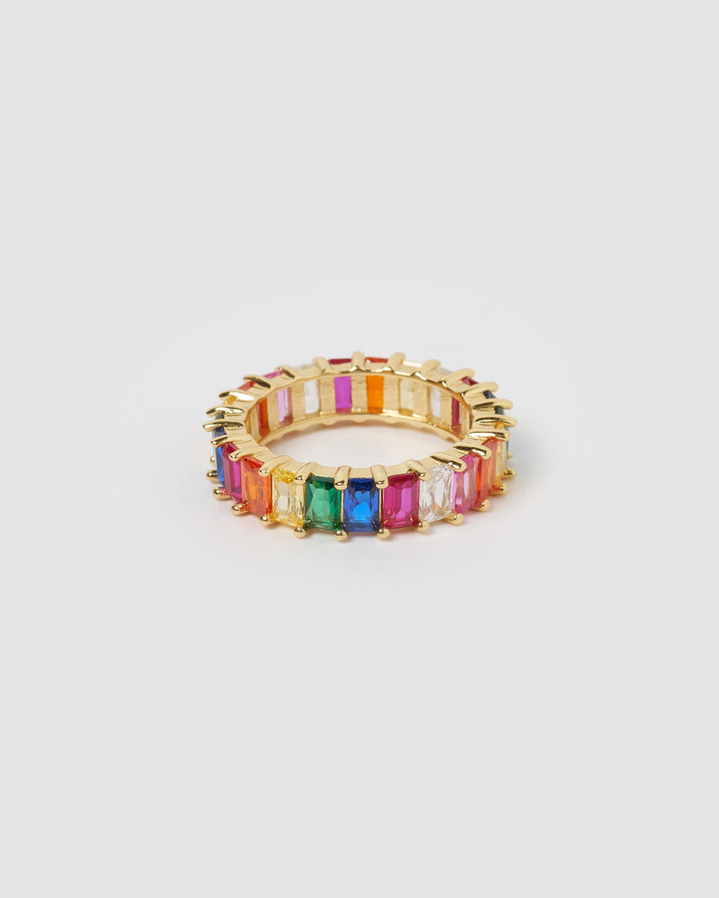 Load image into Gallery viewer, Izoa Jordy Ring Multi Gold