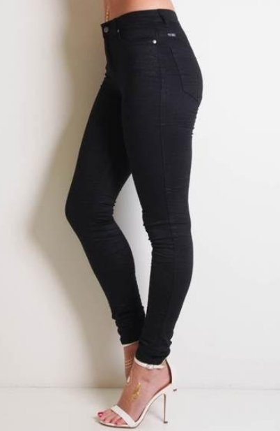 Refuge Black Onyx Denim Jeans - Gelato Legs (Super Stretch) HIGH RISE