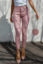 Blush Oil Rigger 7/8 Jean - Refuge High Rise Waist (Rubber Sheen) Limited Edition